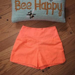 Anthropologie Cartonnier Bright Orange Shorts Sz 0